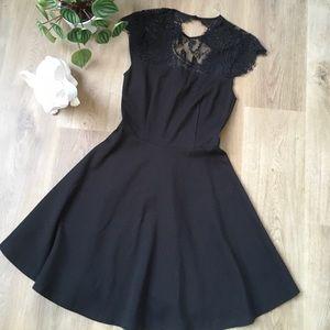 BB Dakota Black Skater Dress w/lace size XS